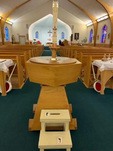 Tisdale baptism font